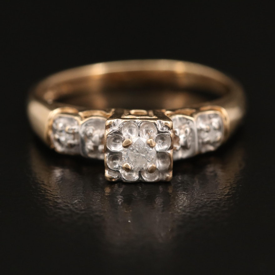 Vintage 10K Diamond Ring