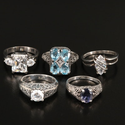 Rings Including Sterling Diamond, Topaz and Cubic Zirconia Accents