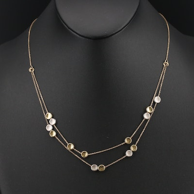 Italian 14K Two-Tone Station Necklace