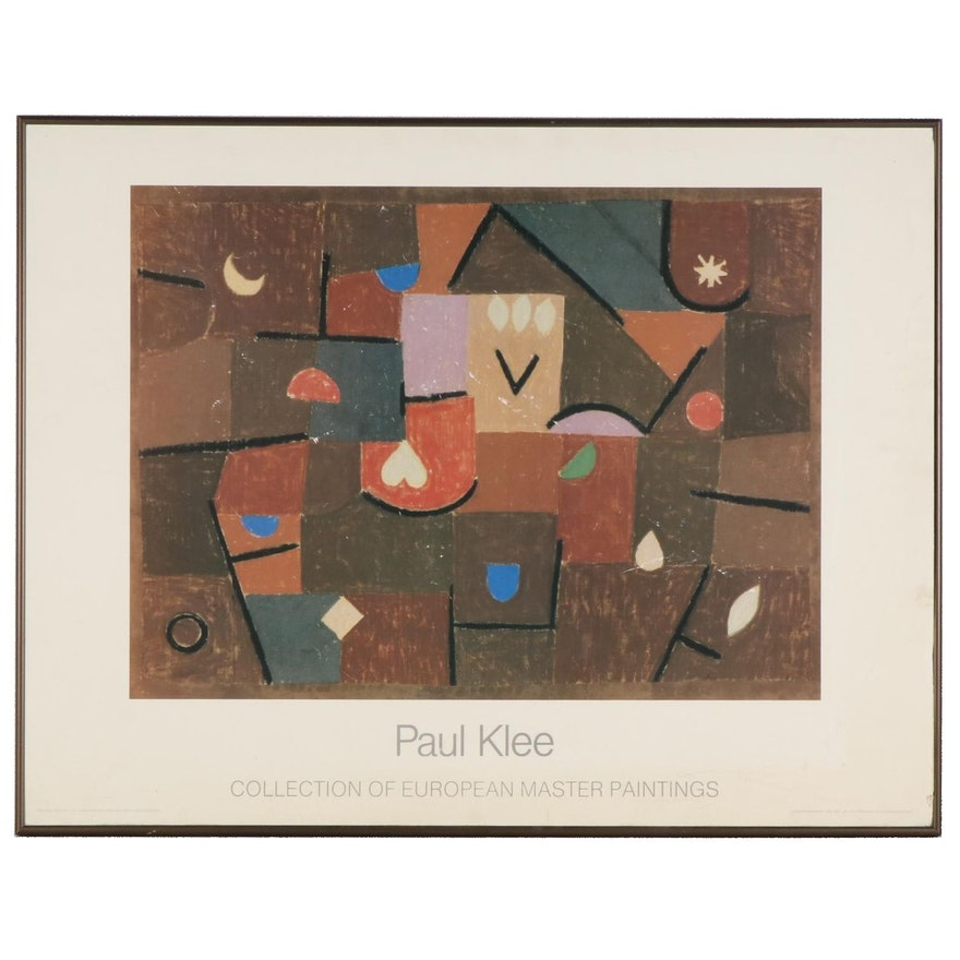 """Offset Lithograph after Paul Klee """"Collection of European Master Paintings"""""""