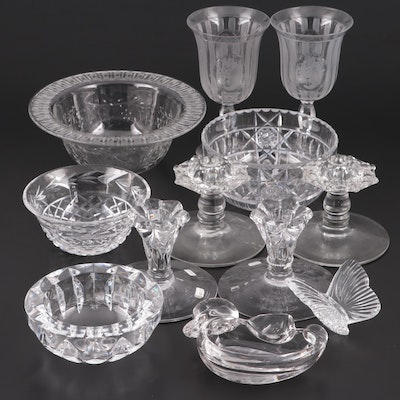Hawkes, Waterford, Orrefors and Other Cut Crystal and Glass Tableware