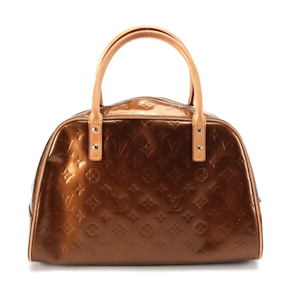 Louis Vuitton Tompkins Square Handbag in Bronze Monogram Vernis