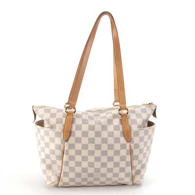 Louis Vuitton Totally PM Bag in Damier Azur Canvas