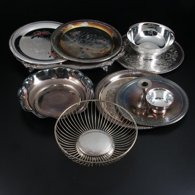 Sheridan Silver Plate Meat Tray with Other Silver Plate Serveware