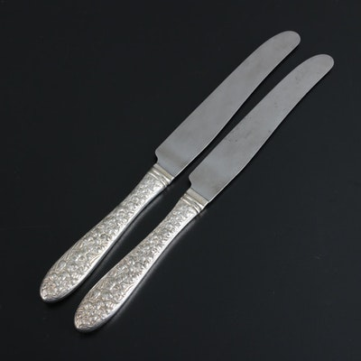 """National Silver Company """"Narcissus"""" Silver Plate Handled Knives"""