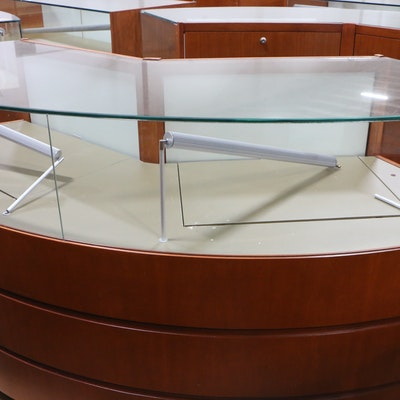 Retail Jewelry Display Cases with LED Lighting