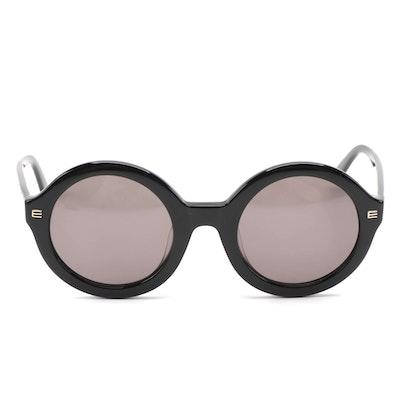 ETRO ET614SK Round Frame Sunglasses in Black Acetate