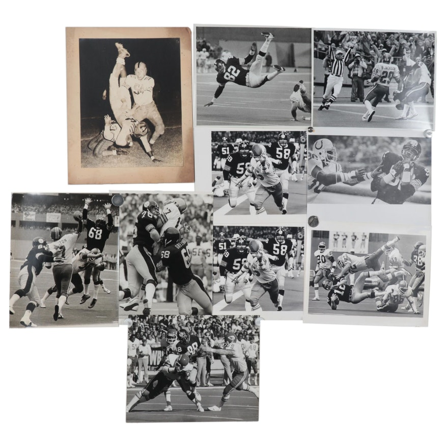 Harry K. Frye Pittsburgh Steelers Silver Gelatin Photographs