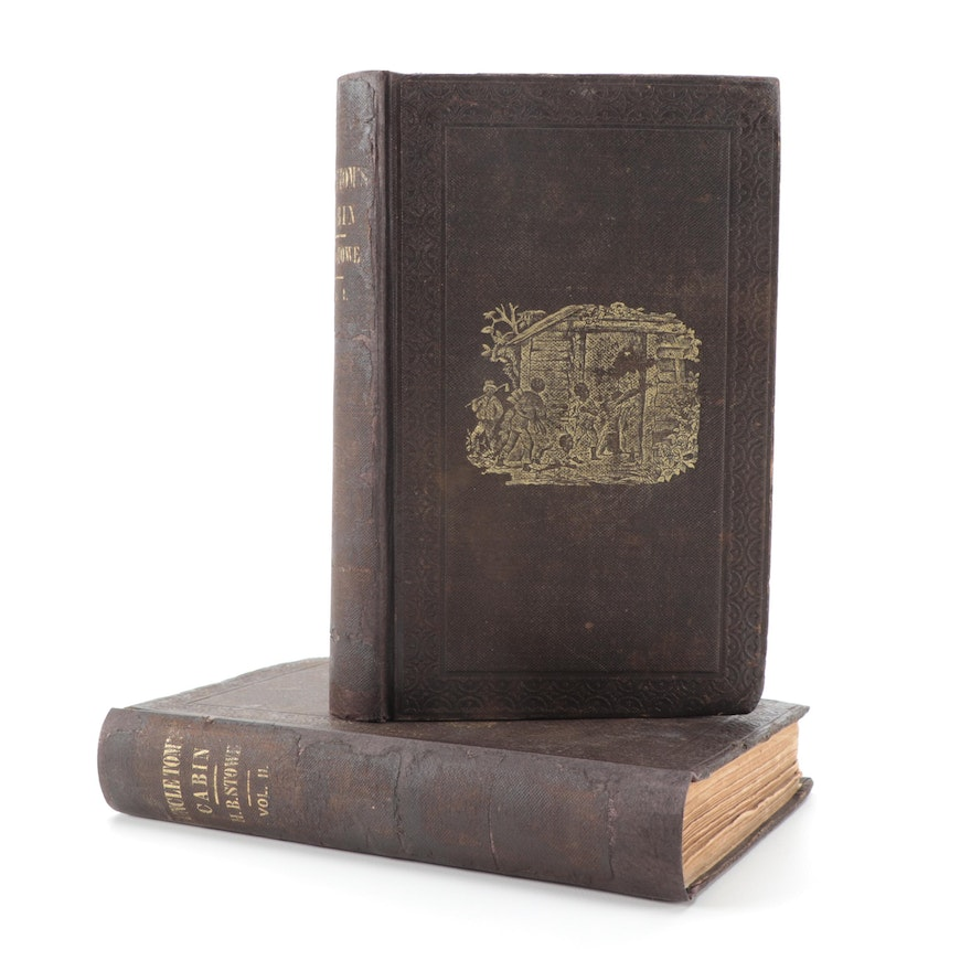"""Early Printing """"Uncle Tom's Cabin"""" Two-Volume Set, 1852"""
