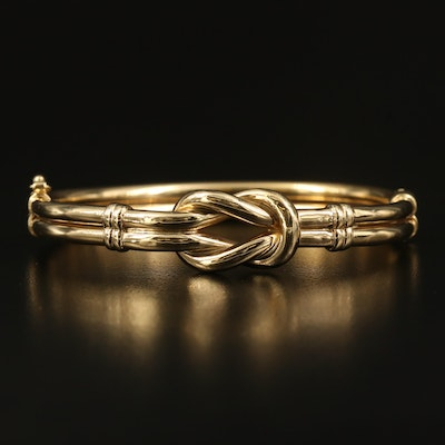 14K Love Knot Hinged Bangle