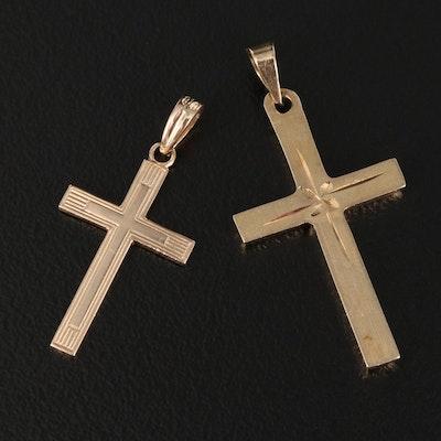 10K and 14K Cross Pendants