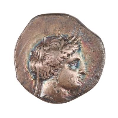 Ancient Greek Lucania Silver Nomos of Metaponta, 330–280 BC