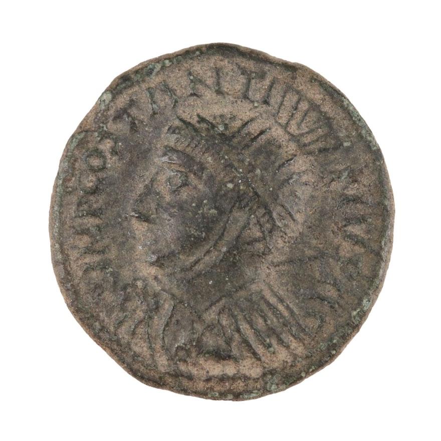 Ancient Imperial Roman Billon Argenteus of Constantine I, Trier Mint, ca. 313 AD