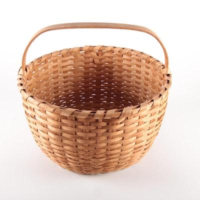 Handmade Open Round Handled Basket