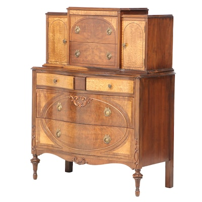 Walnut and Ash Veneered Chest-on-Chest, circa 1930