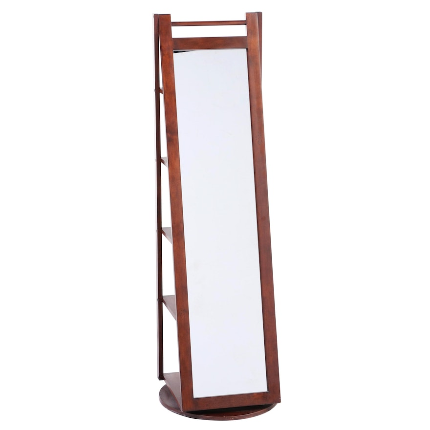 Revolving Dressing Mirror with Shelves