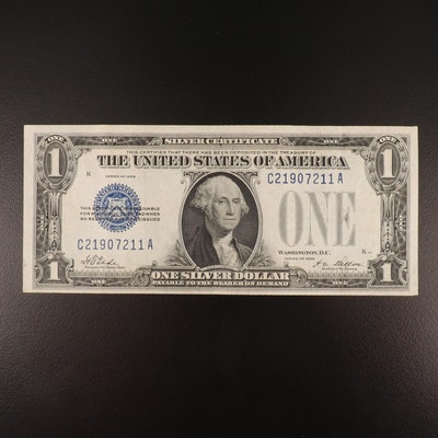 """Series 1928 $1 """"Funny Back"""" Silver Certificate"""