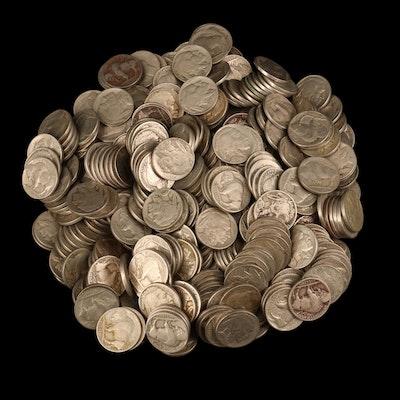 Approximately 350 Buffalo Nickels