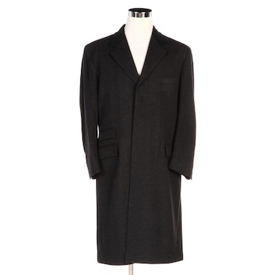 Men's Brooks Brothers Lambswool Overcoat with Contrast Lapel
