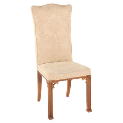 Chippendale Style Upholstered Wooden Side Chair