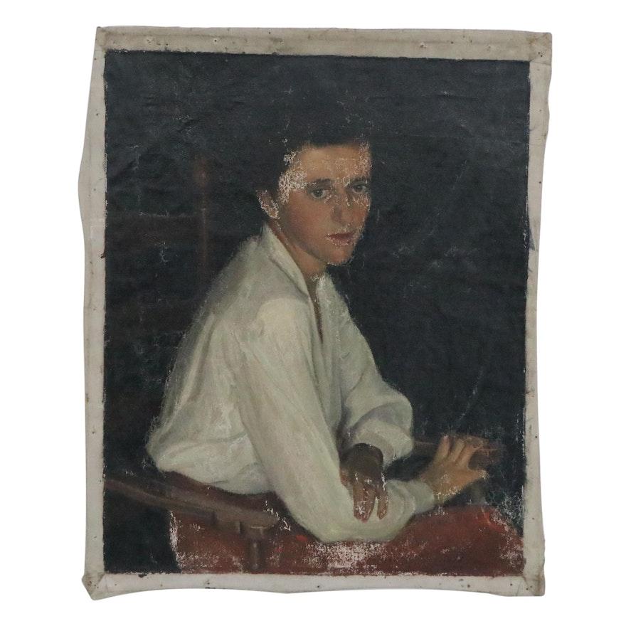 Edmond James Fitzgerald Oil Portrait of a Woman, 1958