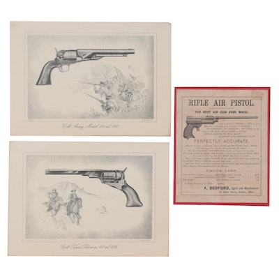 Wood Engraving and Offset Lithographs of Firearms