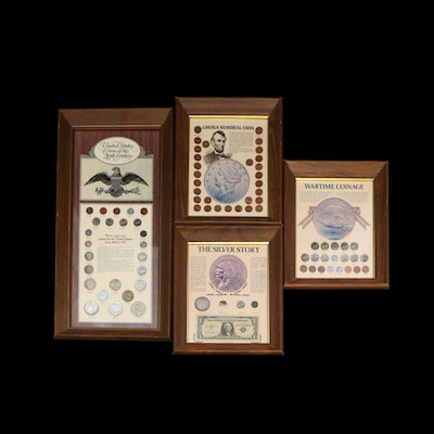 Four Framed U.S. Coin Sets