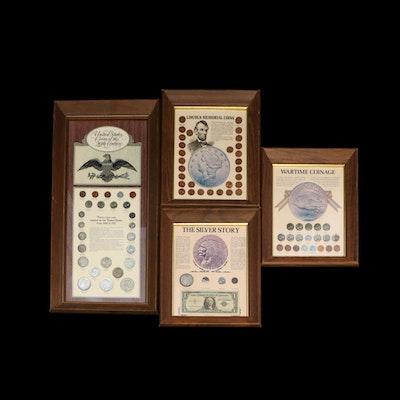 Four Framed U.S. Coin Sets