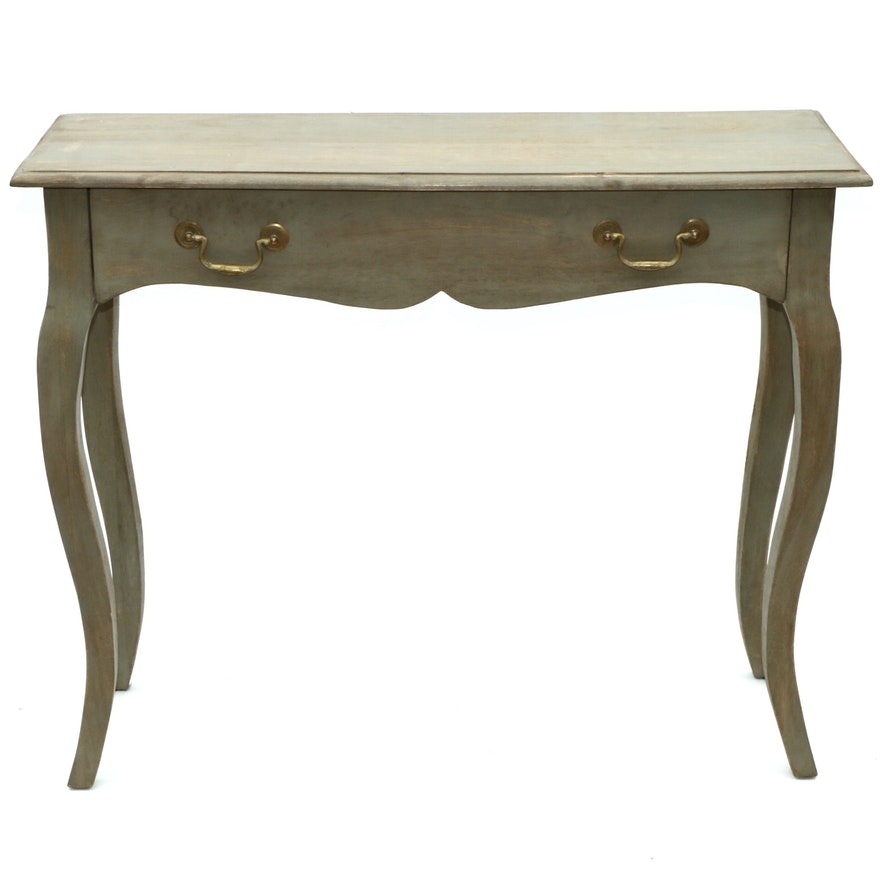 Nadeau Painted Wooden French Provincial Style Hall Table