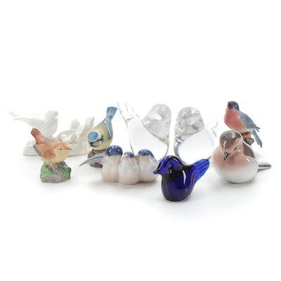 Royal Worcester Bone China Bird Figurines with Other Figurines