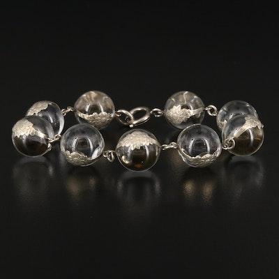 "Art Deco Rock Quartz Crystal ""Pools of Light"" Bracelet"