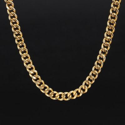 10K Curb Link Necklace