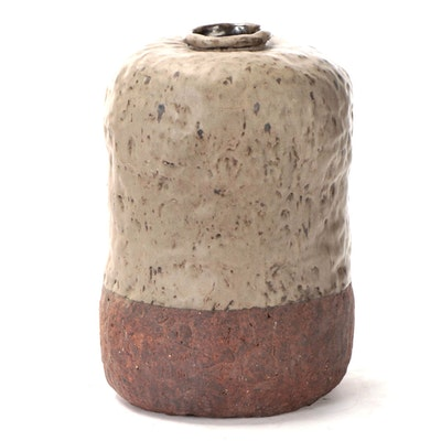 Ray Stefanelli Hand-Built Glazed Stoneware Pot, Contemporary