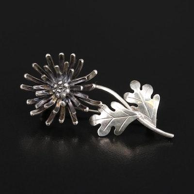 Sarah Coventry Vintage Sterling Flower Brooch