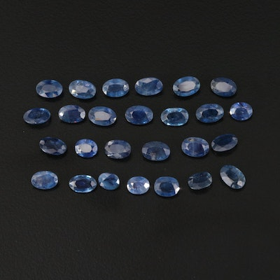 Loose 12.48 CTW Oval Faceted Sapphire
