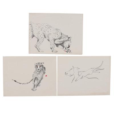Rabindra Danks Lithographs of Animals, Late 20th Century