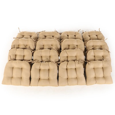 Sixteen Solarium Polyester Tufted Tie Back Chair Cushions