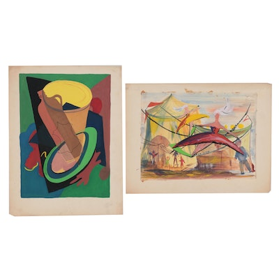 Isabel Matson Watercolor and Gouache Paintings, Late 20th Century