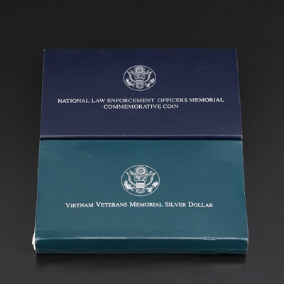 Vietnam Veterans Memorial and National Law Enforcement Memorial Silver Dollars