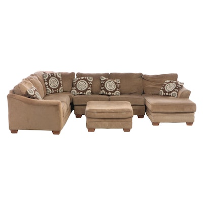 Ashley Furniture 4-Piece Upholstered Sectional Seat Group with Ottoman