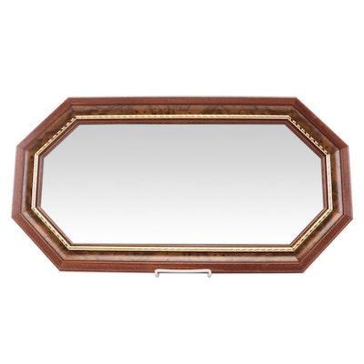 Wooden Irregular Octagonal Wall Mirror