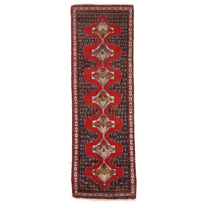 3'2 x 9'6 Hand-Knotted Persian Kurdish Bijar Long Rug