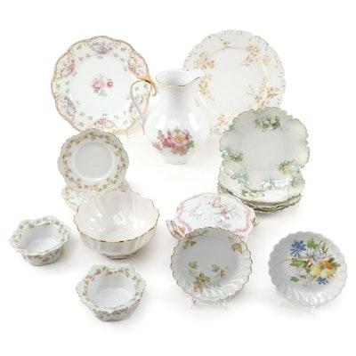 Haviland Limoges and Other Porcelain Dinnerware