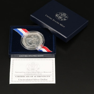 1997 National Law Enforcement Officers Memorial Commemorative Silver Dollar