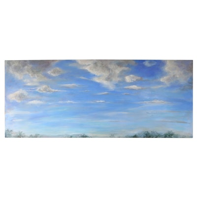 Joanne Honschopp Large-Scale Acrylic Painting of Clouds