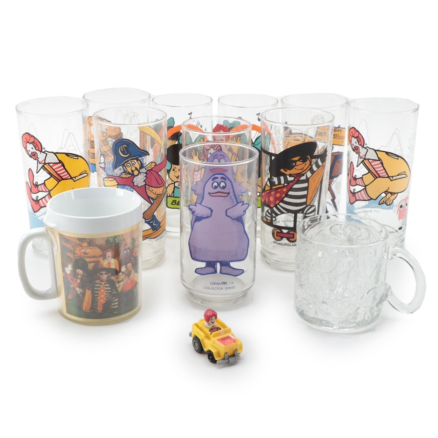 McDonald's Collector Series Tumblers and Other Mugs, Late 20th Century