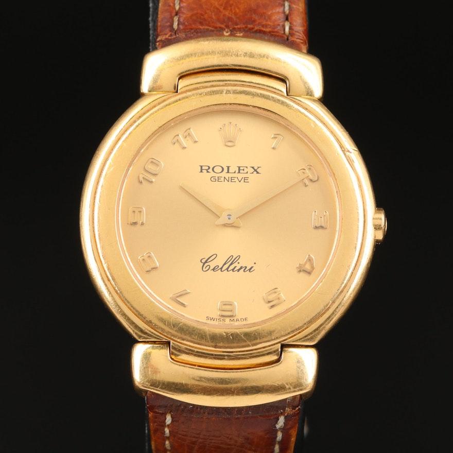 1990 Rolex Cellini 18K Yellow Gold Quartz Wristwatch