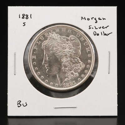 Uncirculated 1881-S Morgan Silver Dollar