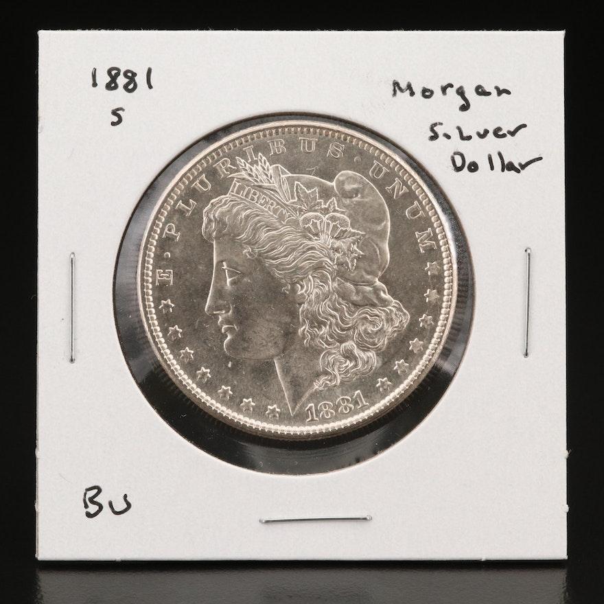 Uncirculated 1881-S Morgan Silver Dollar