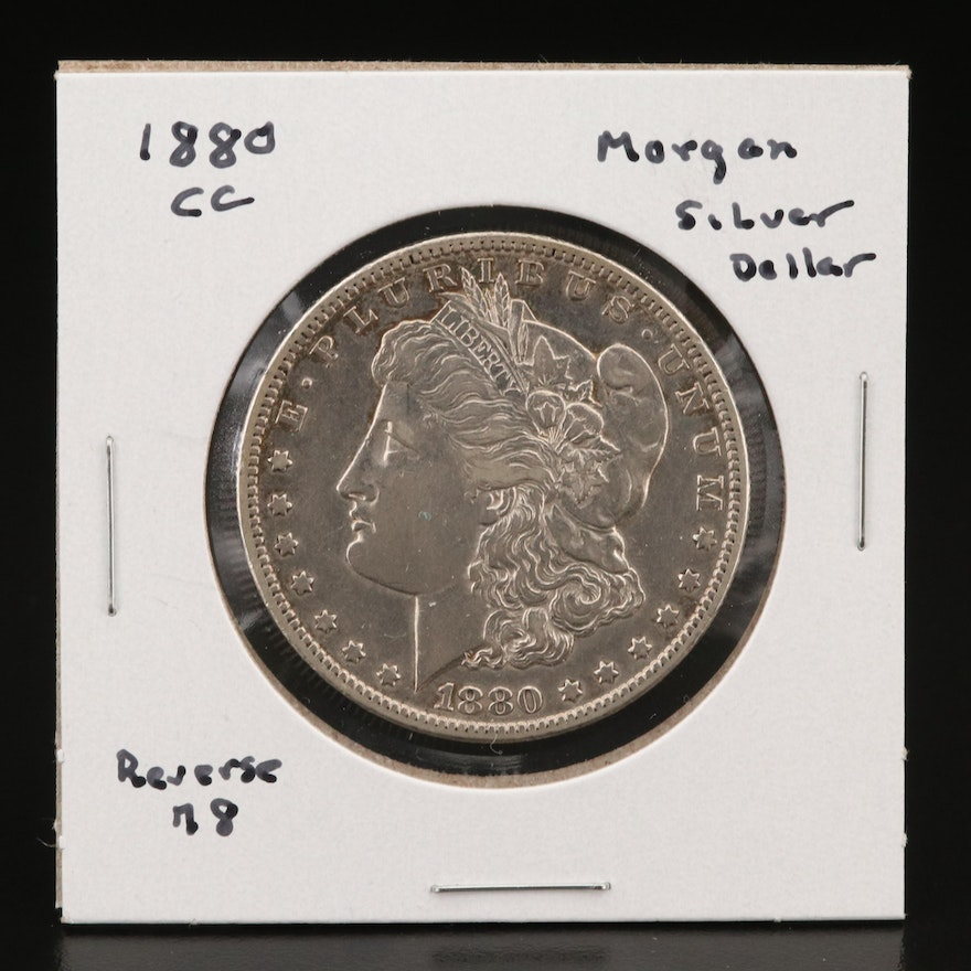 Better Date Lower Mintage 1880-CC Morgan Silver Dollar with 1878 Reverse